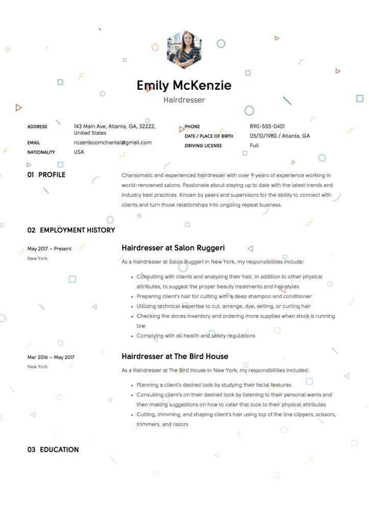 Full Guide Hairdresser Resume 12 Samples Resume Examples