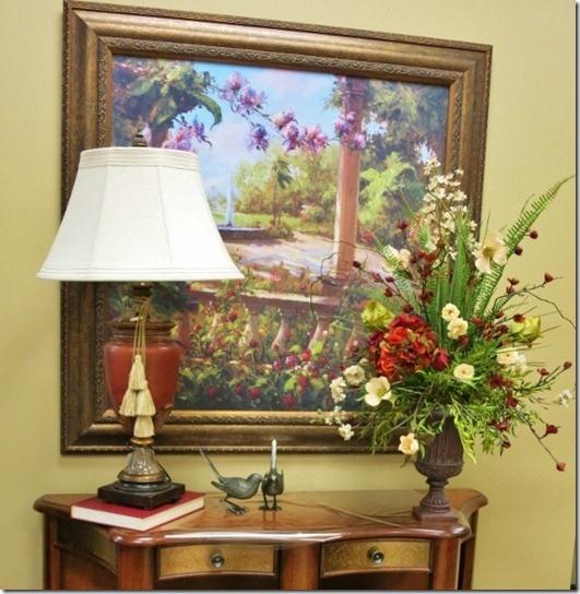 Winter Sale thru 1/26/13 -- 15% off art work, lamps, & florals.