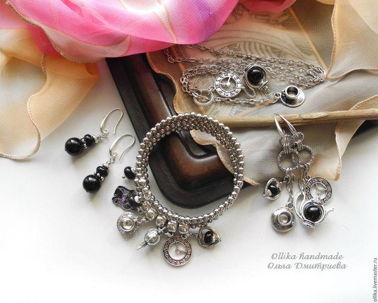 Купить Браслет Чашечку Кофе?, многорядный, намотка, с подвесками для Бариста - браслет под серебро