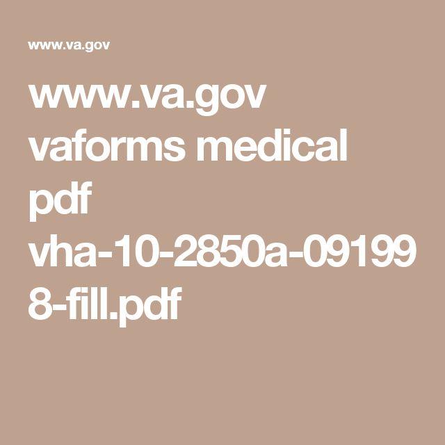 www.va.gov vaforms medical pdf vha-10-2850a-091998-fill.pdf | VA ...
