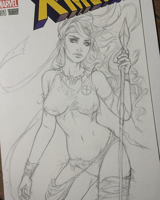 Repost from @colletteturnerart - Next commission in progress- Savage Land Rogue. Hoping to get this one inked tonight.  #Xmen #rogue #comics #comicart #sketch #instaart #art #draw #colletteturner
