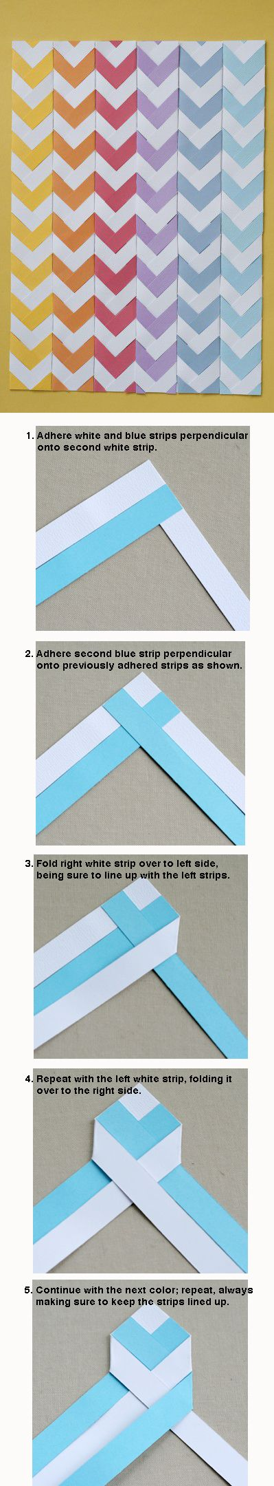 braided chevron bookmarks. Laminate them for durability, add a ribbon! could make a great 1-1 craft with the right resident.