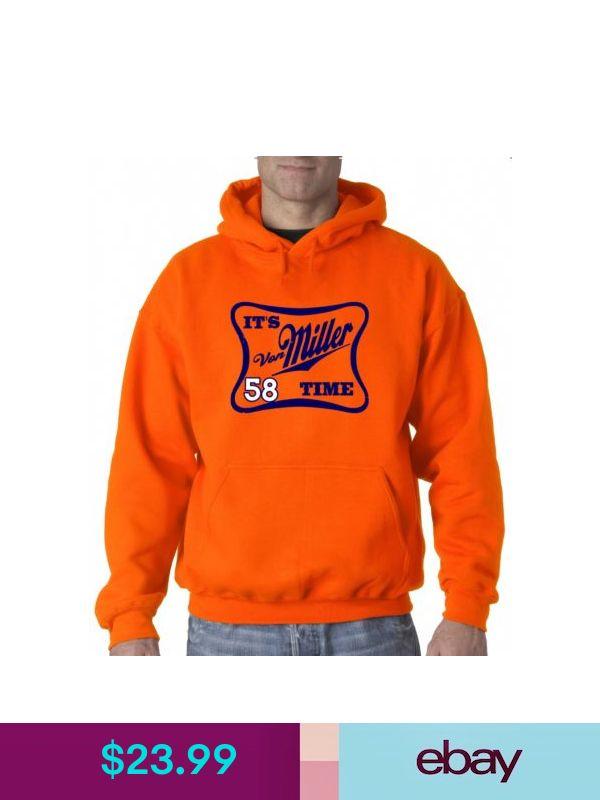 "Von Miller Denver Broncos /""Miller Time/"" jersey Hooded SWEATSHIRT HOODIE"