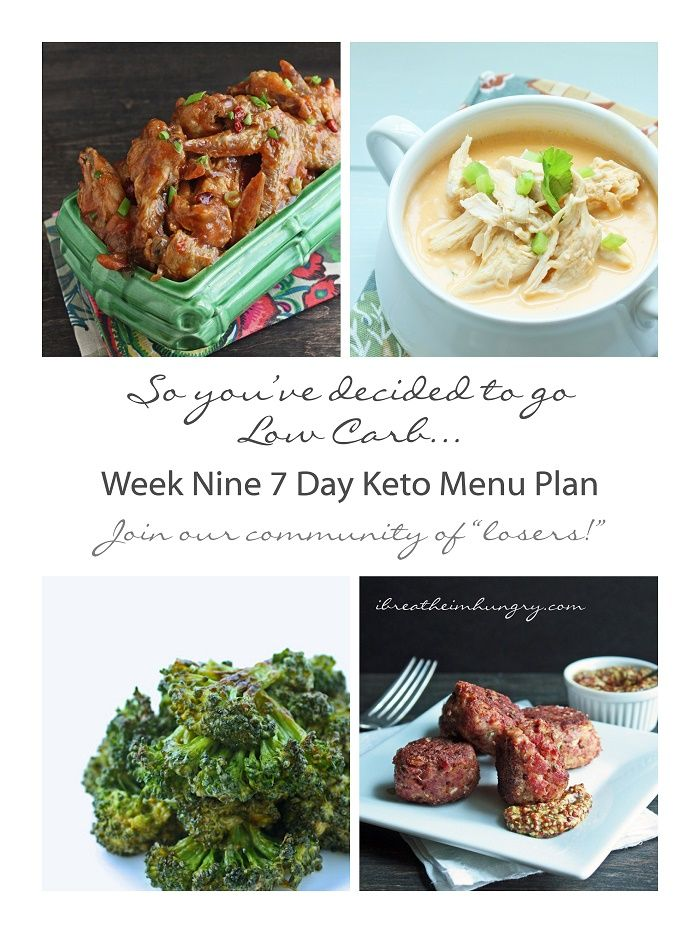Week Nine Free Keto and Low Carb 7 Day Menu Plan from ibreatheimhungry.com