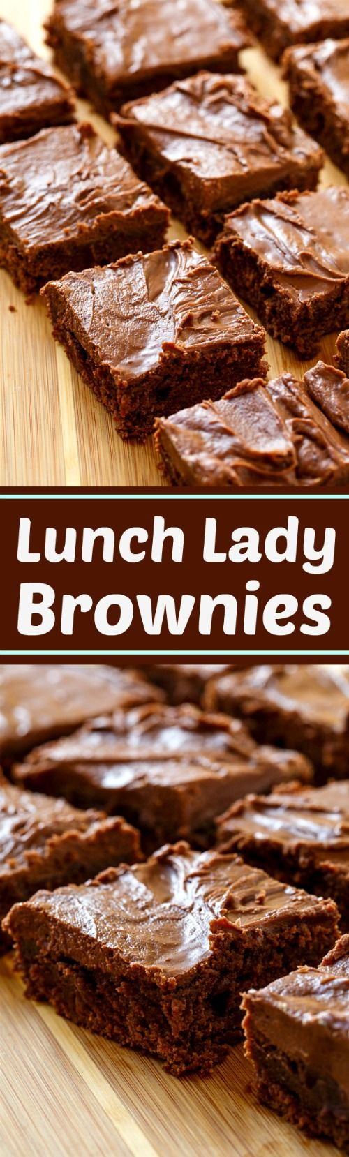 Lunch Lady Brownies- the most delicious brownies ever!