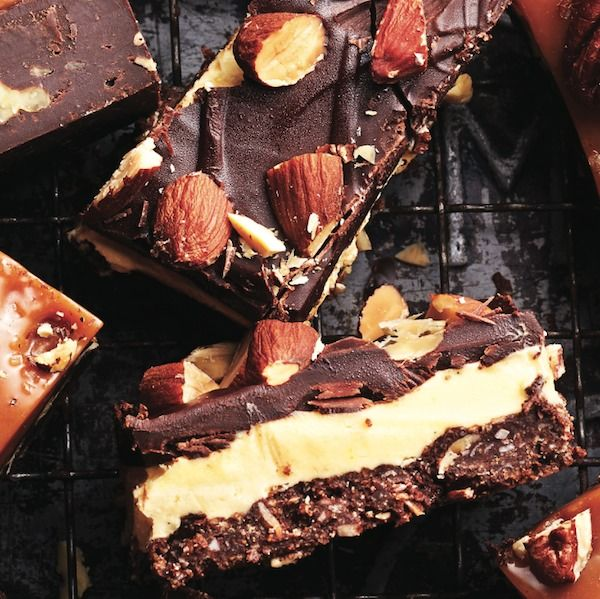 Some of our kitchen team find traditional Nanaimo bars too sweet, so we developed a bar we all could love.