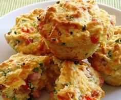Muffins verduras y queso