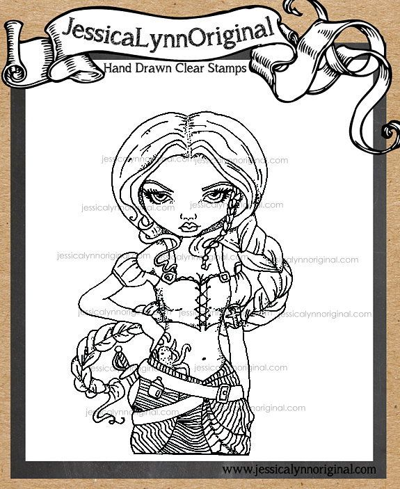 jessicalynnoriginal captain molly morgan clear rubber stamp featuring the art of jasmine becket griffith