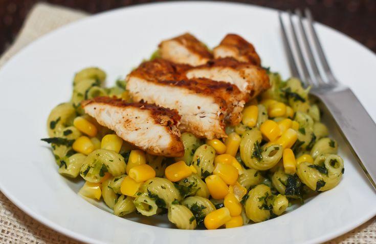 Smoked Paprika-Chipotle Chicken w/Spiral Pasta & Kale Pesto