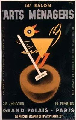 Jean carlu 14th salon des arts m nagers 1 9 3 7 birds pinterest vintage paris and - Salon des arts creatifs paris ...