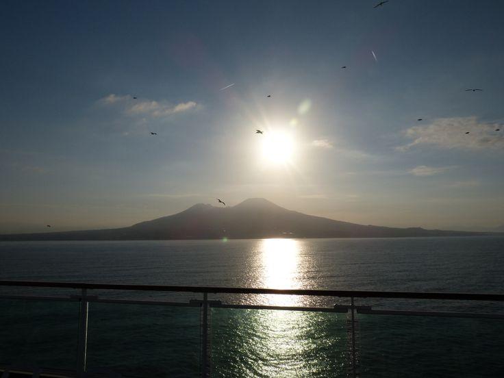 Sunrise over mount Vesuvius, Naples
