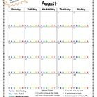 This easy to use monthly behavior log features one page for each month- August 2013 to June 2014. It is to be used in conjuction with the clip char...