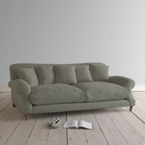 Large  Crumpet  in dove grey wool - Sofas | Loaf This sofa is called Crumpet!! Ha ha ha. It looks nice and squishy though
