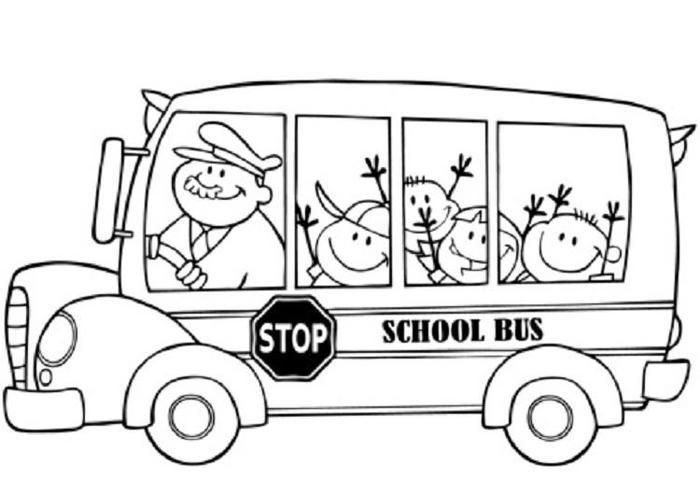 Baby Bus Coloring Pages Kindergarten Coloring Pages School Bus Drawing Preschool Coloring Pages