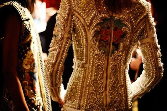Balmain genius: Fashion Details, 2012 Backstage, 2012 Beads, Balmain Fw, Balmain Runway, Balmain Baroque, Fw 2012, Fall 2012, Balmain Fallwinter