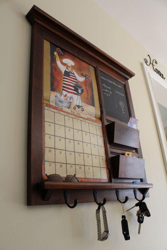Family Planner Wall Calendar Frame Maple Furniture Front