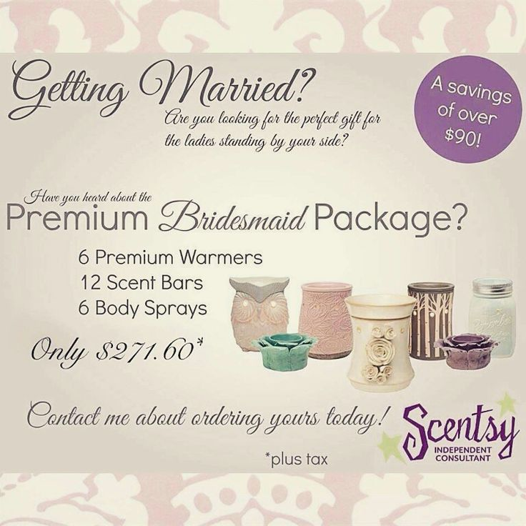 Getting married and need gift for bridesmaids here is a deal for you. https://vandaway.scentsy.ca