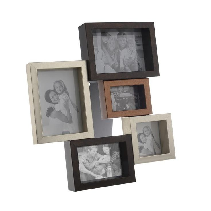 Frame With 5 Sections - Frames Wood-Leather - FRAMES-ALBUMS - inart