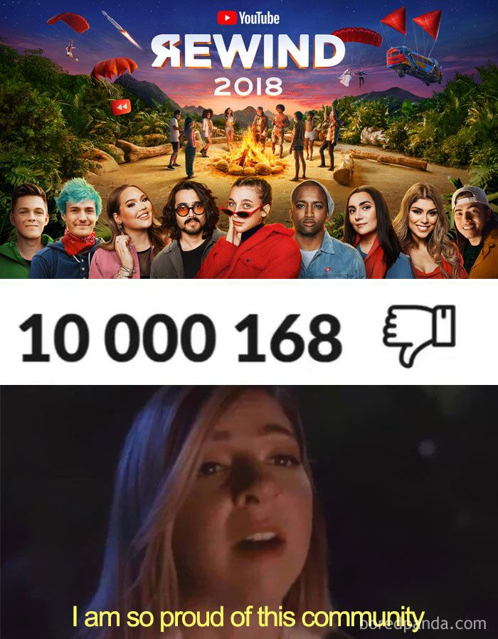 Image of: Comment Youtube Rewind 2018 Becomes The Most Disliked Video On Youtube And Here Are 61 Best Reactions Syfy Wire Youtube Rewind 2018 Becomes The Most Disliked Video On Youtube And