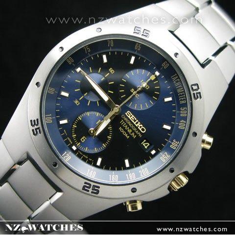 Seiko titanium watch 100m Chronograph watches SND449P1