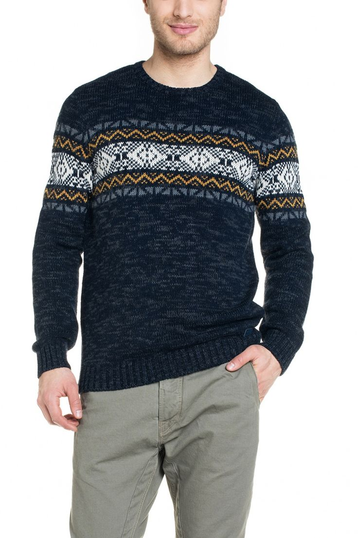 Camisola tricotada, gola redonda e manga comprida - Salsa