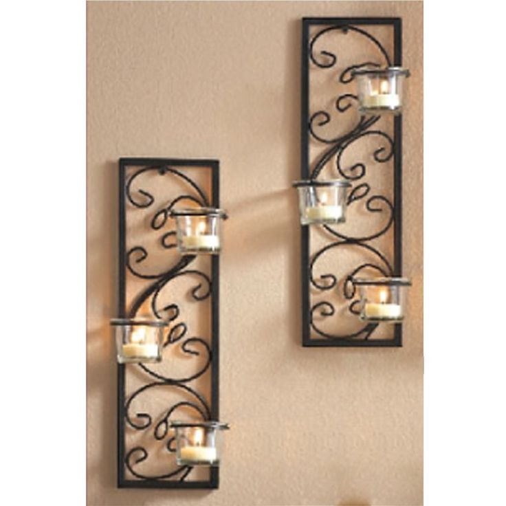 Mirror Wall Mounted Candle Sconce