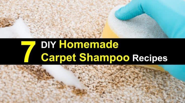 7 Diy Homemade Carpet Shampoo Recipes Carpet Shampoo Homemade Carpet Shampoo Carpet Cleaning Solution
