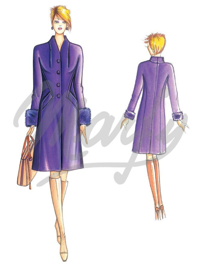 Our Patterns :: Marfy Collection 2015/2016 :: Sewing Pattern 3772 -