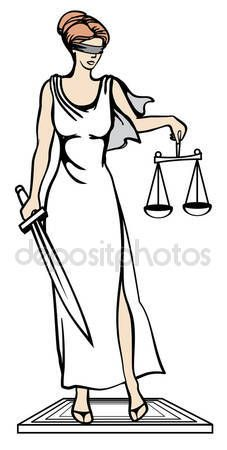 Themis - goddess of justice. Vector illustration. Femida — Stock Vector © tinkerfrost #77401730