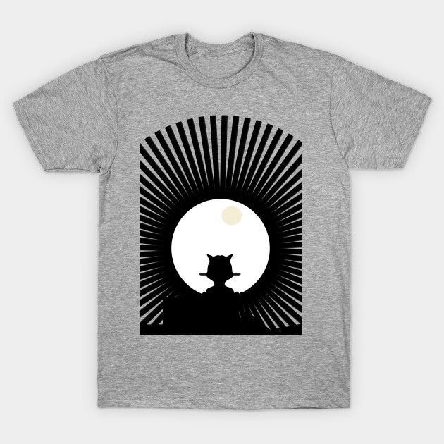 Cat full moon t-shirt