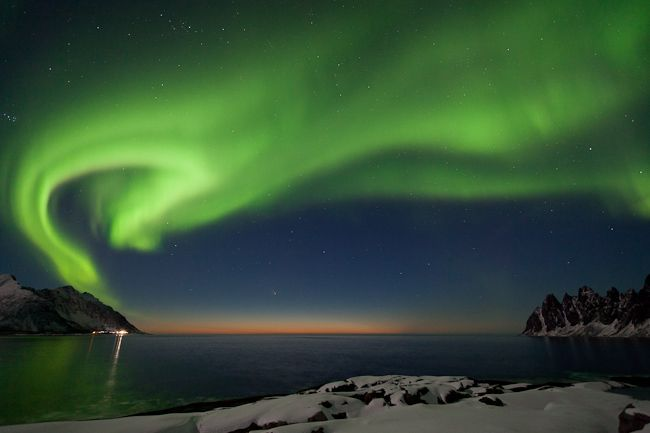 Northern Light & Comet captured in Senja Norway by photographer Sylvain Dussons. March 2013.