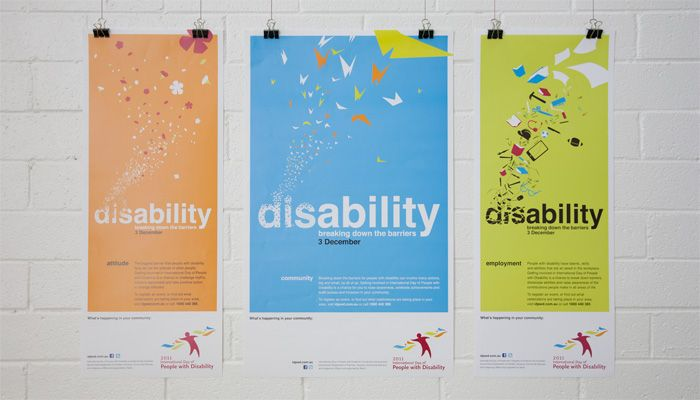 http://www.spectrumgraphics.com.au International Day of People with Disability Posters, design, artwork, layout, typesetting, publication, graphic design, infographics, contents page, front cover, internal spread