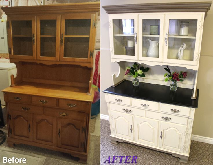 25 Best Chalk Paint Hutch Ideas On Pinterest