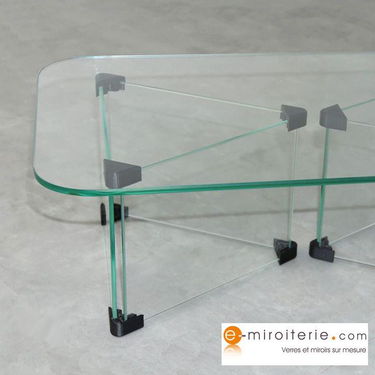Table basse en verre trempé