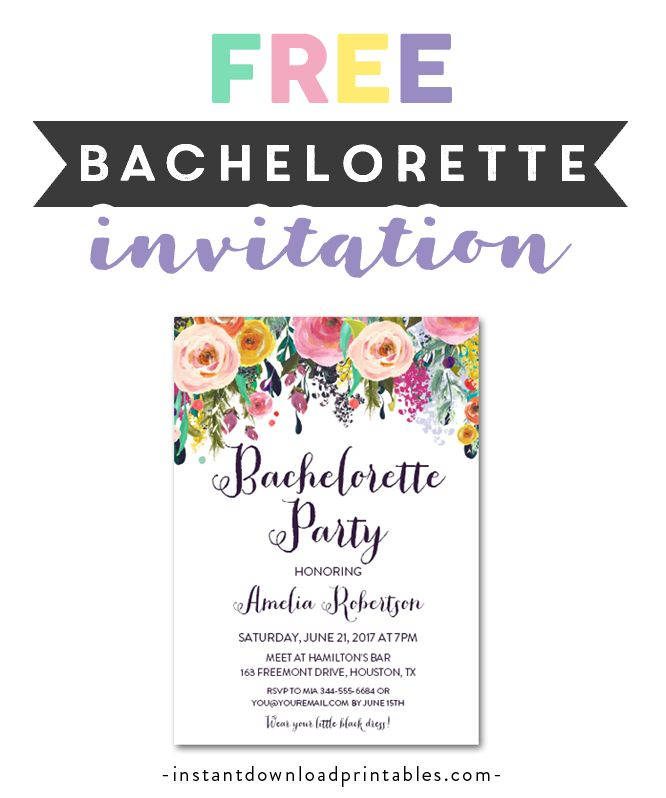 Free Printable Editable Pdf Bachelorette Party Invitation Diy