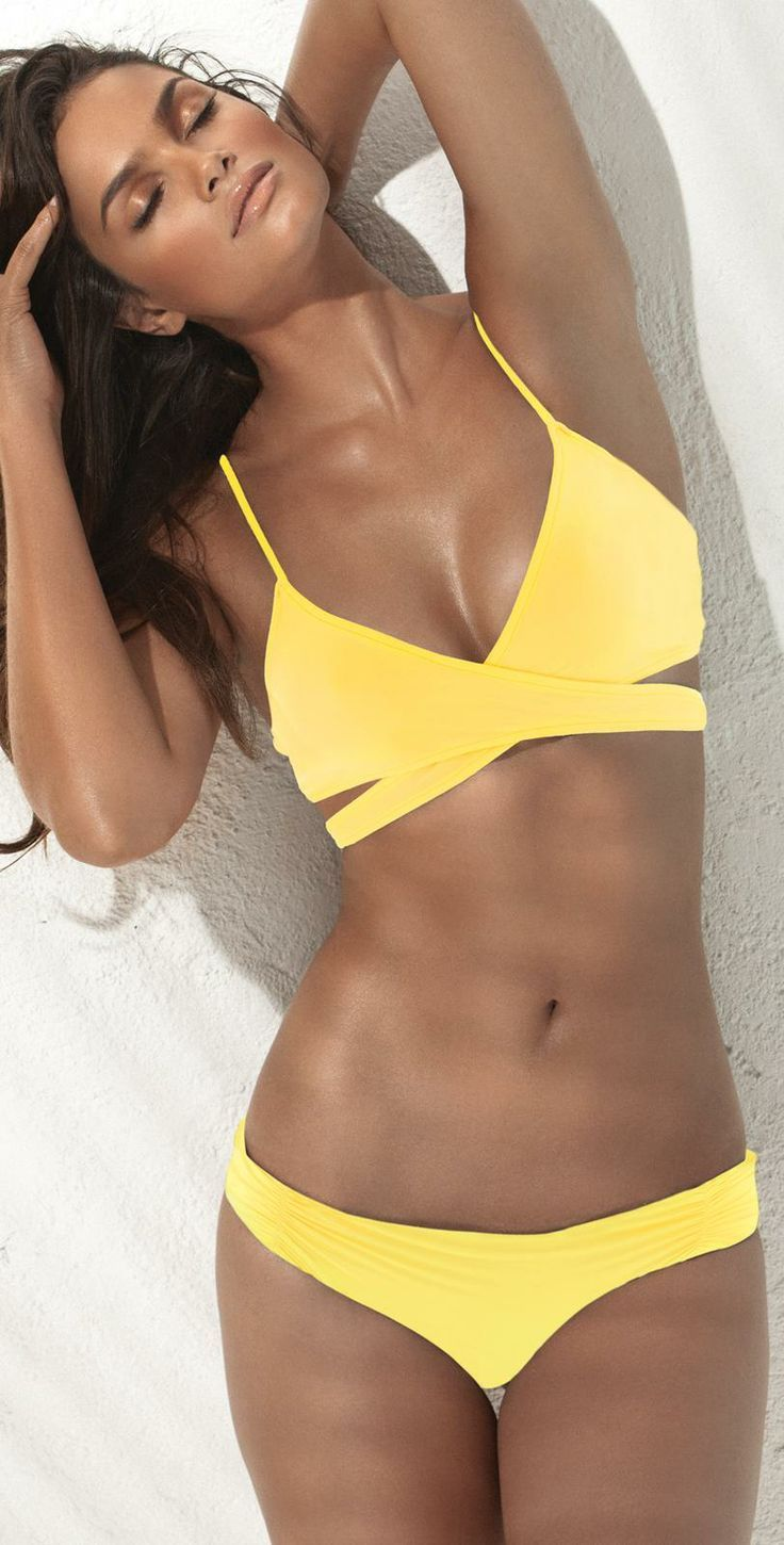 Top 50 Designer Bikinis and Swimsuits of 2014 - Style Estate - L Space 2014 Daffodil Chloe Wrap #Bikini