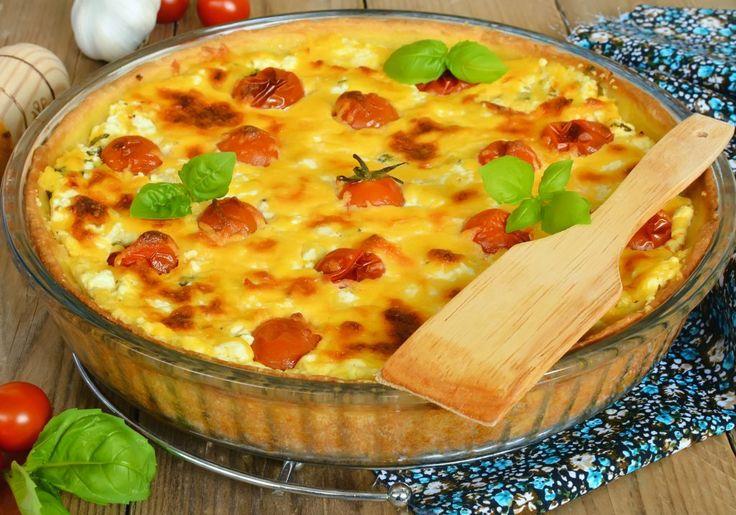 Plăcintă cu roșii, brânză și busuioc | Retete culinare - Romanesti si din Bucataria internationala