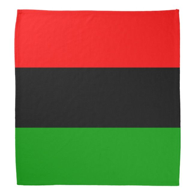 Red Black Green Pan African Flag Bandana Zazzle Com In 2020 African Flag Pan African Flag Flag Bandana