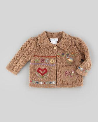 Knit Sampler Cardigan, Scottish Sampler, 3-9 Months  by Ralph Lauren Childrenswear at Neiman Marcus.