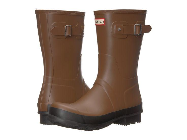 Hunter Original Short Rain Boot Men's Boots Soil/Black