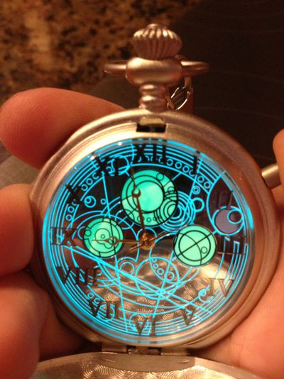Doctor Who TARDIS Inspired Pocket Watch