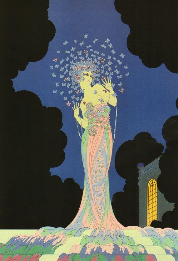 Chic Original Vintage ERTE ART Deco Print by GailsVintagePrints