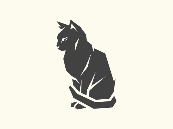 OMG NEGATIVE SPACE AND CATS Cat Logo by Brandlogo on @creativemarket …