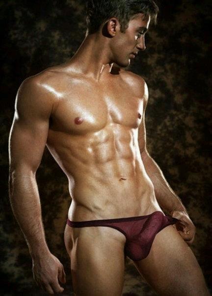 Hot Sexy Gay Man Male Muscles Big Bulge  Boner Inducing -1153