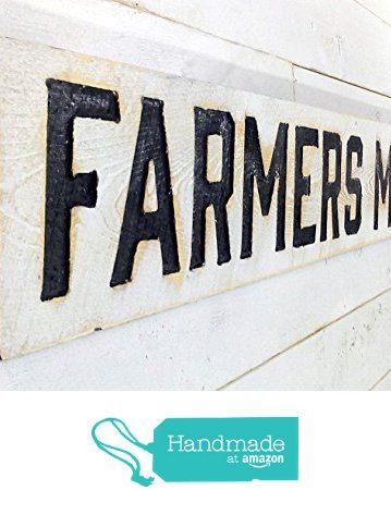 """FARMERS MARKET Sign Horizontal 55""""x8""""- Carved in Cypress Lumber from Americana Signs [afflink]"""