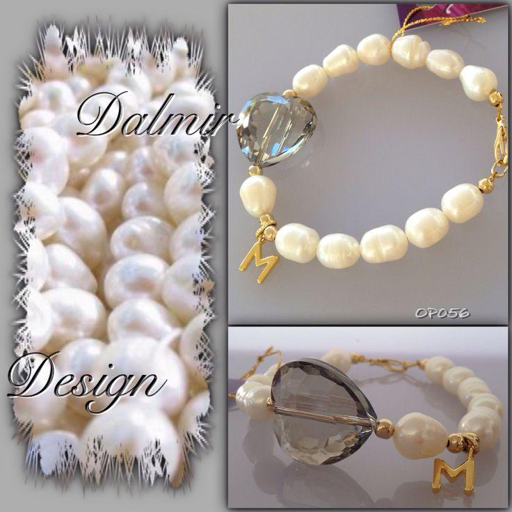 Perlas de rio, cristal y acabados en baño de oro. Precio mayoristas
