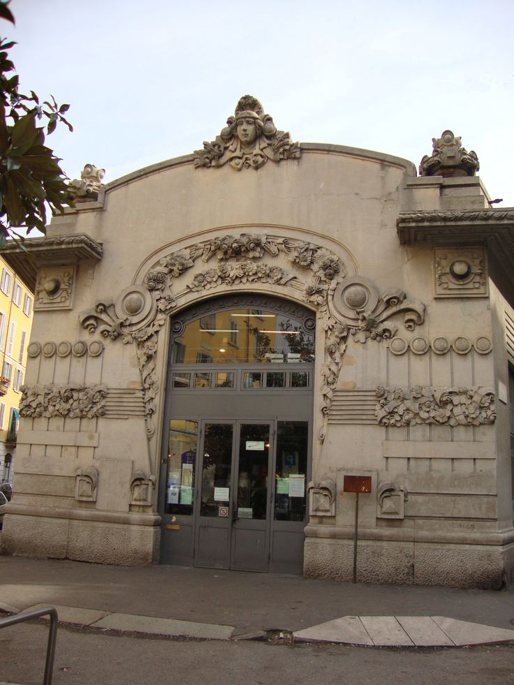 The Cinema Dumont, in liberty style (Art Nouveau) was the first cinema in Milan (1910). Provinceof Milan, Lombardy region Italy Via P. Frisi, 2