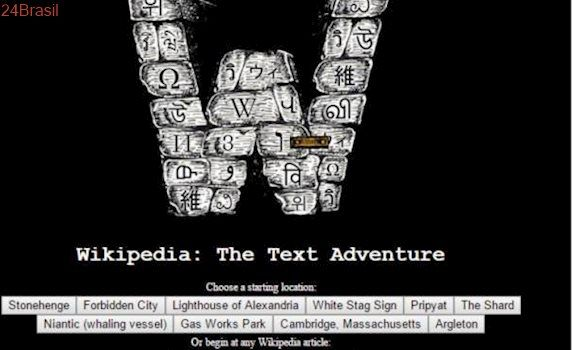 Desenvolvedor transforma Wikipedia em um jogo de aventura em texto