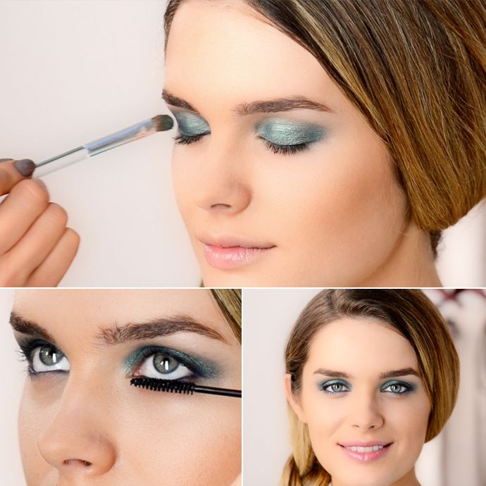 Sizzle at any party this summer with a fresh-faced look and eye-popping colour! All you need to complete this look is an eye shadow duo, coloured eye liner, waterproof mascara and lip gloss with a hint of shimmery pink. Now all eyes are on you!