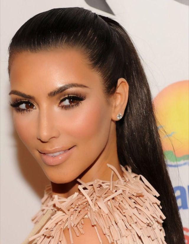 Neutral Wedding Makeup : Kim Kardashian neutral eye makeup. hair Pinterest ...